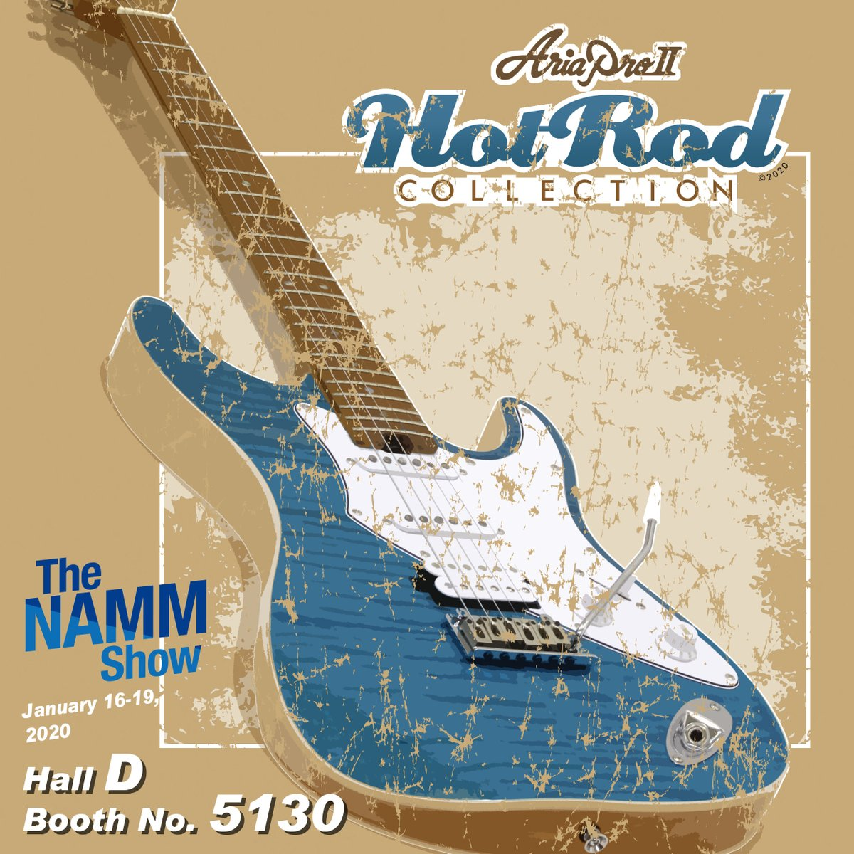 Aria Guitars On Twitter Come To See Us At Namm 2020 Hot Rod Collection Will Be Fully Unveiled At The Booth