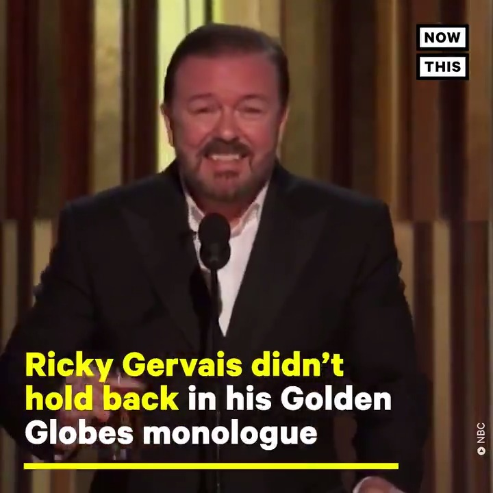 Ricky Gervais held absolutely. nothing. back. in his 5th and 'final' #GoldenGlobes monologue