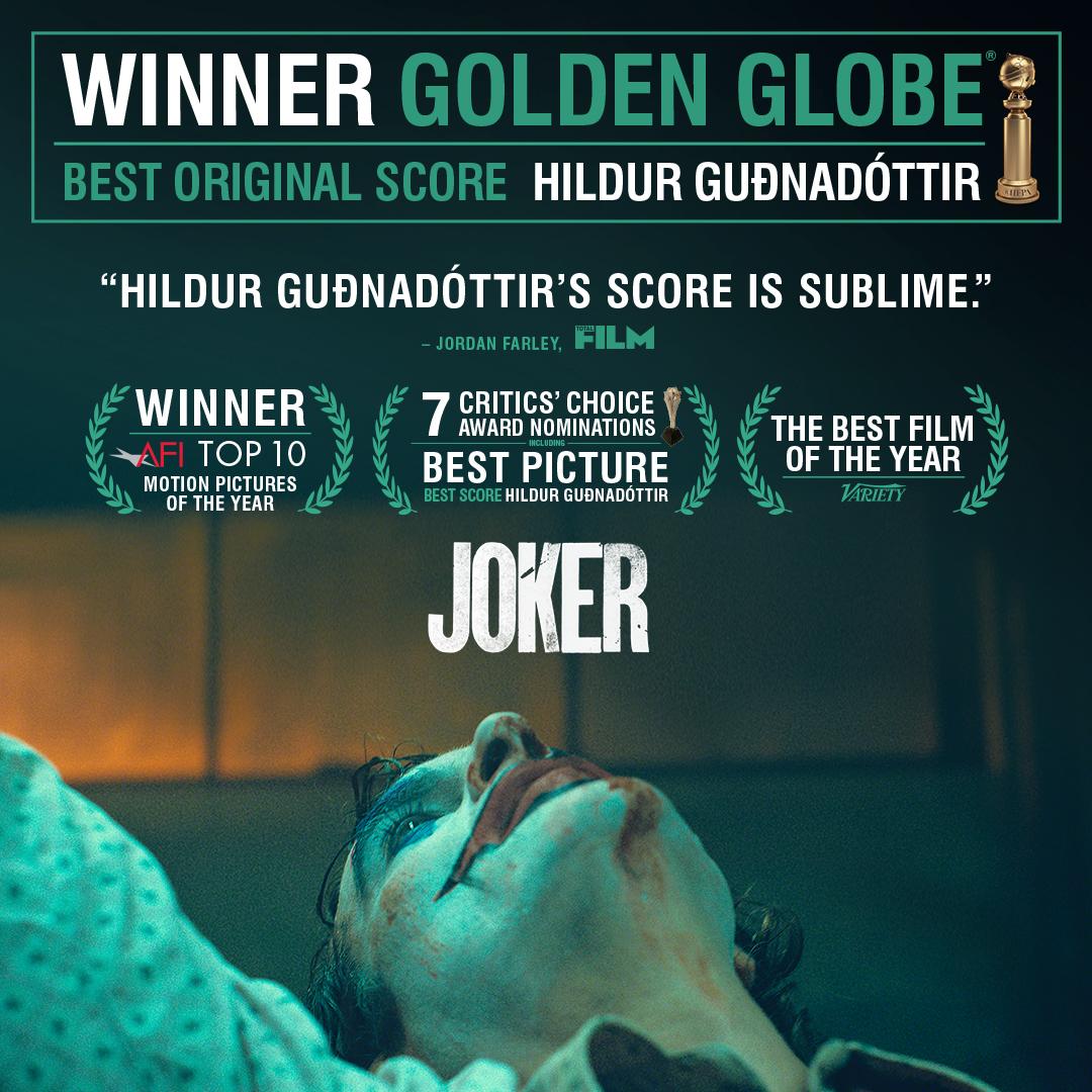 Replying to @jokermovie: Congratulations to Hildur Guðnadóttir on her #GoldenGlobes win for Best Original Score for #Joker.