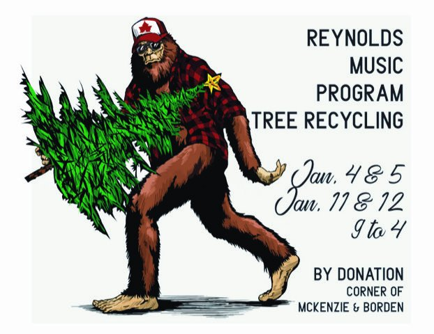 REYNOLDS TREE RECYCLING FUNDRAISER by Donation   Reynolds Music Students are standing by to recycle your tree, rain or shine!  All proceeds support the Reynolds Secondary School Music Program  #yyj  #musicprogram #volunteering #fundraising #bandpic.twitter.com/gBf2wMh6DG