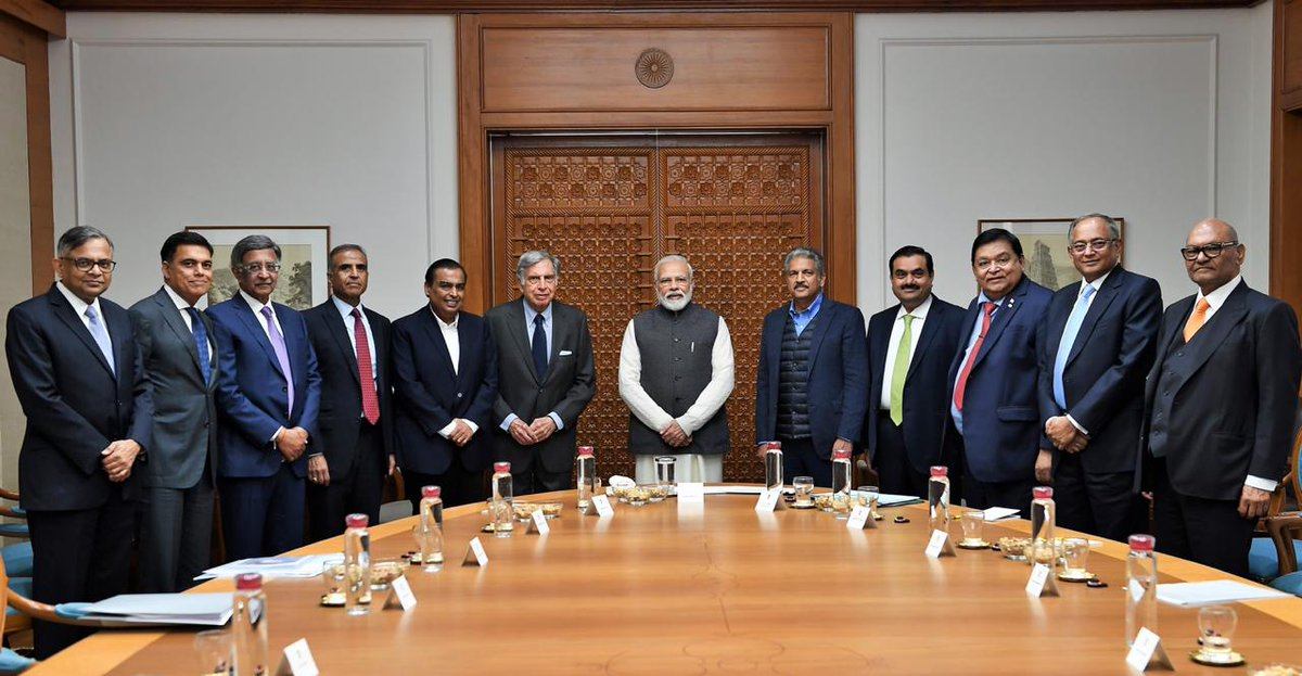 PM Modi holds interaction with leading business stalwarts to discuss ways to improve growth and job creation