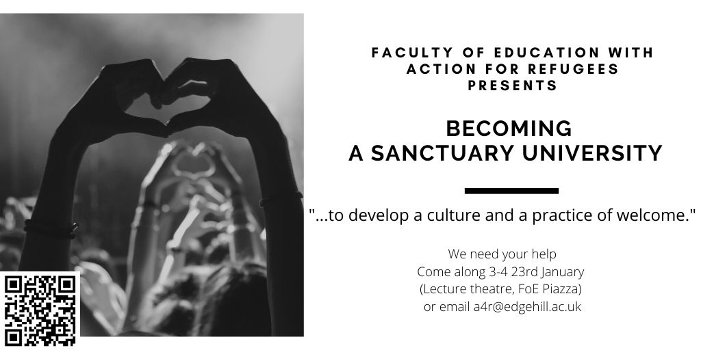 Calling @edgehill students, staff and friends... Please share 🙏 #sanctuary