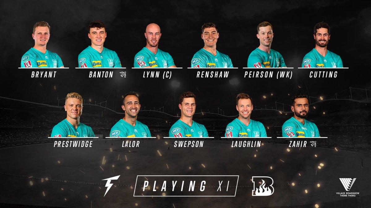 Brisbane Heat On Twitter Sweppo Back Into The Line Up Bat Flip Won And Batting First Thunderbbl 6 10pm Aest 7cricket Foxcricket Kayosports Bringtheheat Bbl09 Https T Co Oqj4w9hrq5