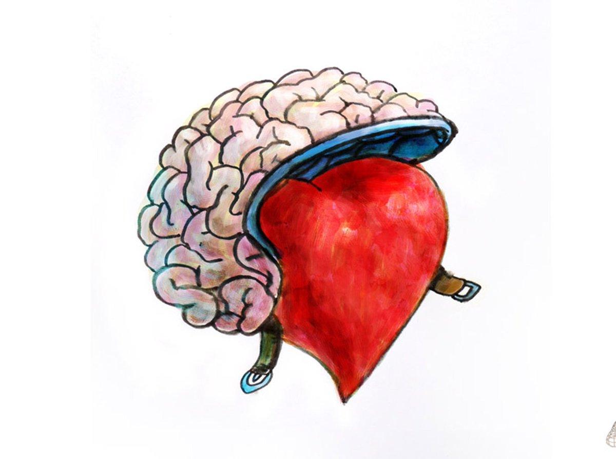 Картинки где мозг на сердце