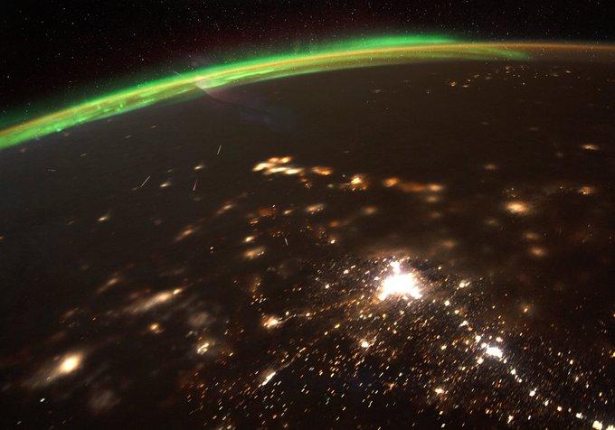 Meteorschauer von der ISS fotografiert