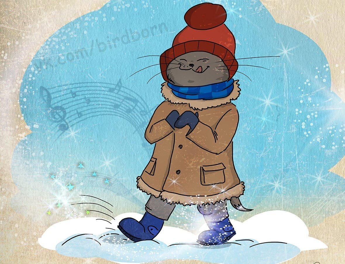 открытки холодно сегодня приложение, затем выберите