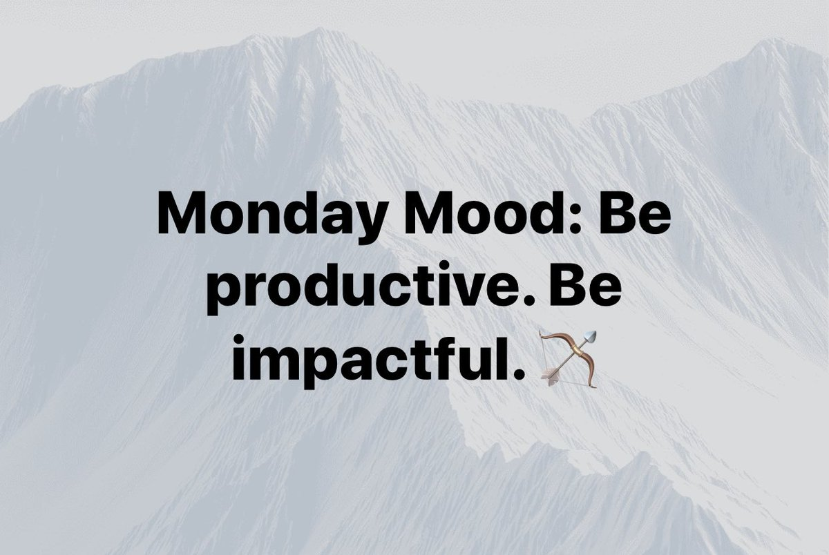Good morning, let's get it! #IntentionalImpact #purpose #MondayMotivation