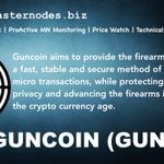 Image for the Tweet beginning: Guncoin $GUN is now listed