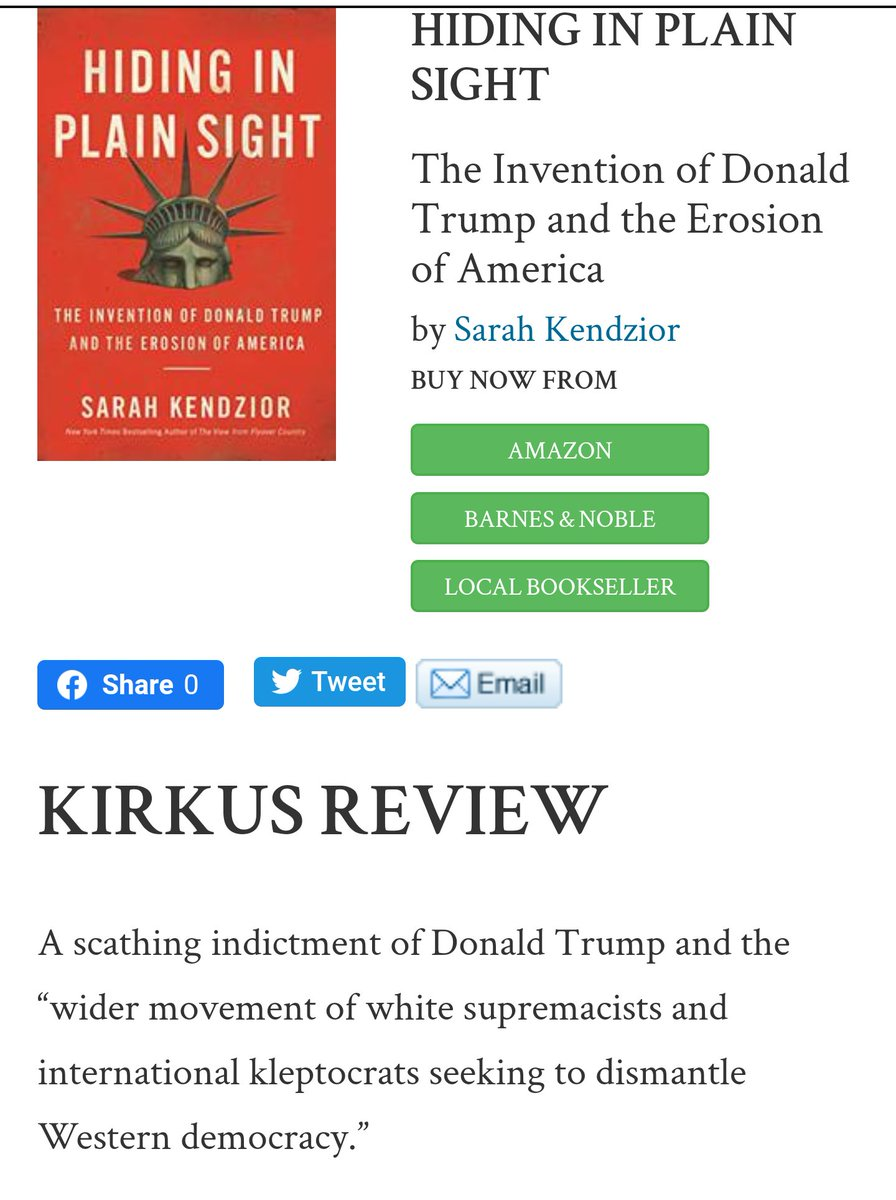 Kirkus reviews my new book HIDING IN PLAIN SIGHT: A passionate call for immediate action against the transnational crime syndicate that has supplanted the US government. kirkusreviews.com/book-reviews/s…