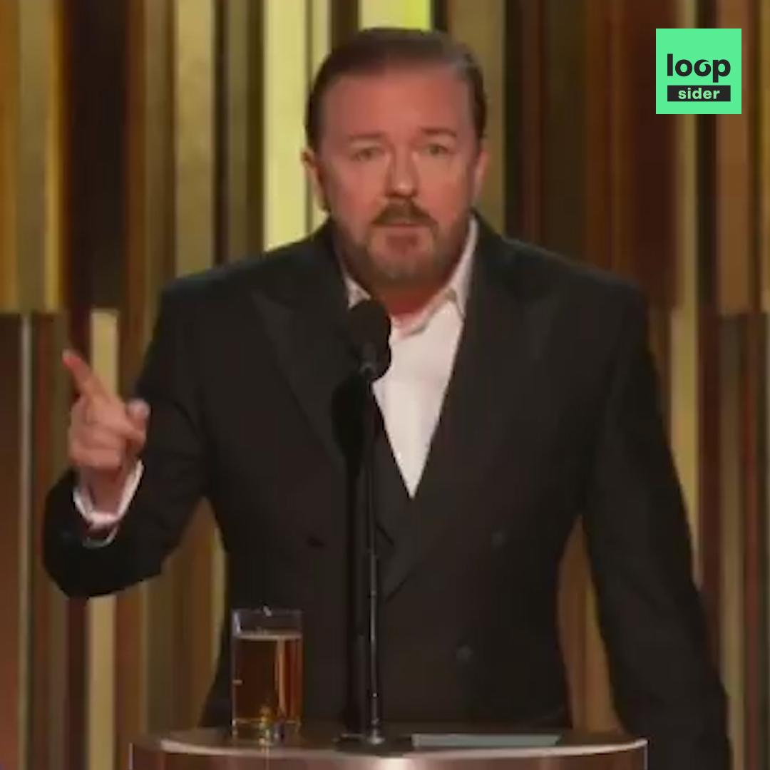 Woooooah.  Vous avez vu le discours d'ouverture des Golden Globes Awards par Ricky Gervais ? Non ? Well... Accrochez-vous.