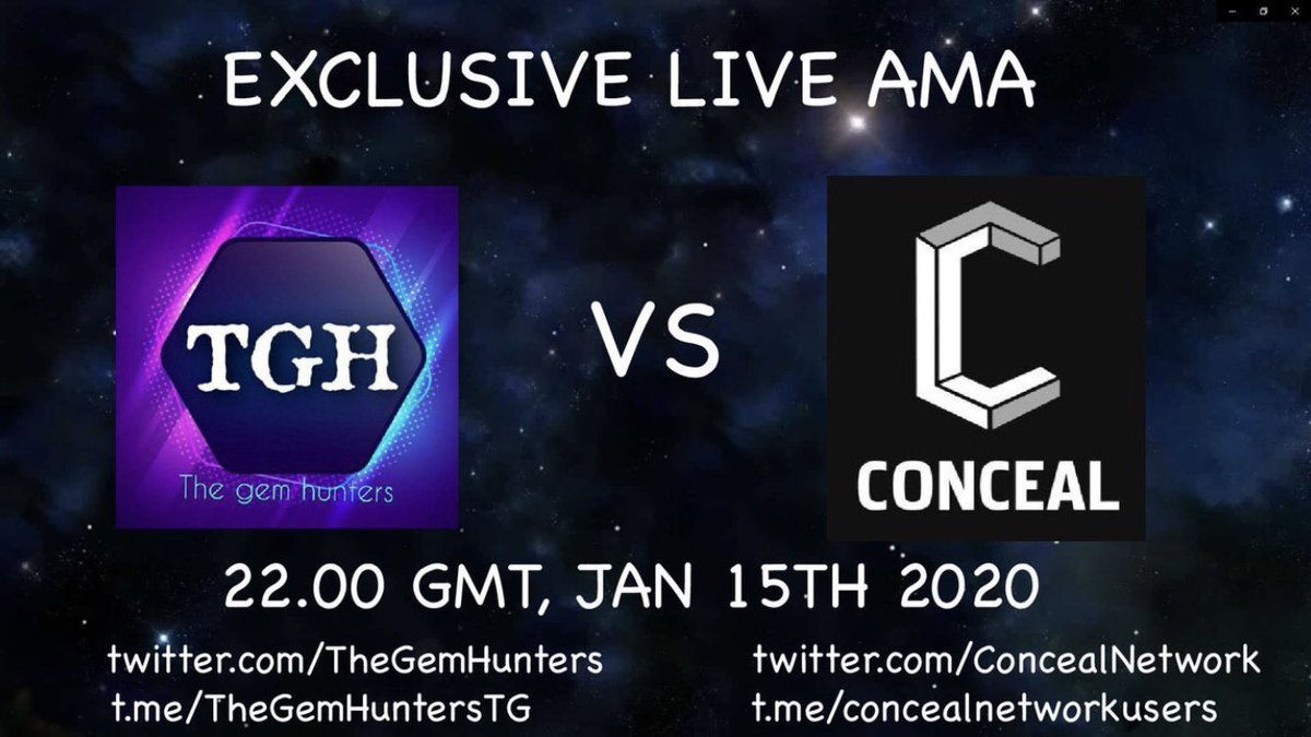 Thank you for the opportunity @TheGemHunters. We would be glad to participate in that event and answer every possible question and interact with the crypto community.