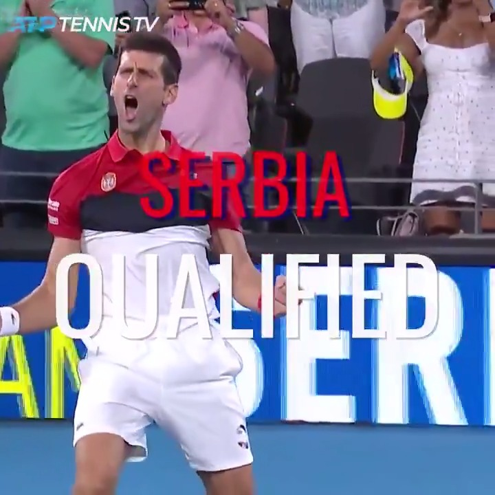 Heading into the #ATPCup last eight as Group A winners...  Congrats, Team Serbia 🇷🇸🙌 https://t.co/Gi5D2Ei4dO