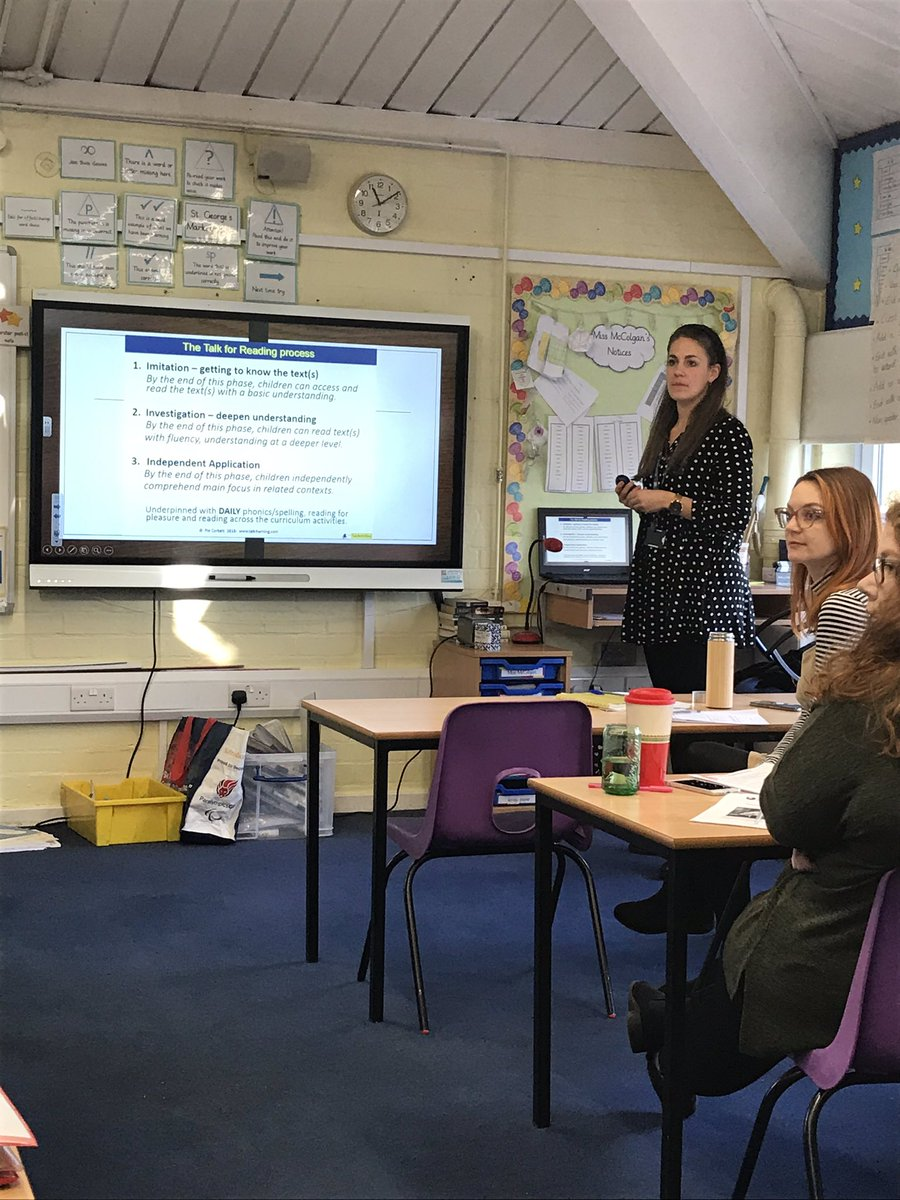 A great INSET day and a great session on Talk for Reading. @Talk4Writing 📚💜