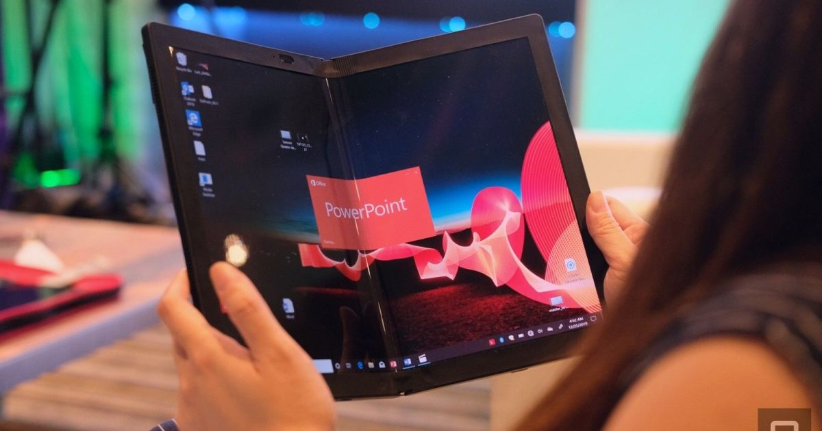 Lenovo's ThinkPad X1 Fold is the first real foldable tablet