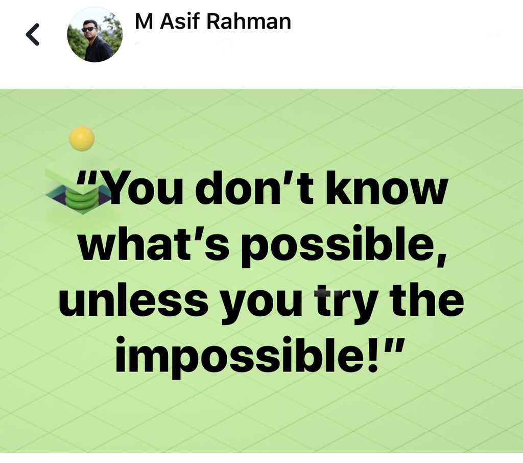 """test Twitter Media - """"You don't know what's possible, unless you try the impossible!"""" #quote #quotes #quoteoftheday #quotation #Asif2BD #Impossible #possible #TryHarder https://t.co/yTvBfXihbJ"""