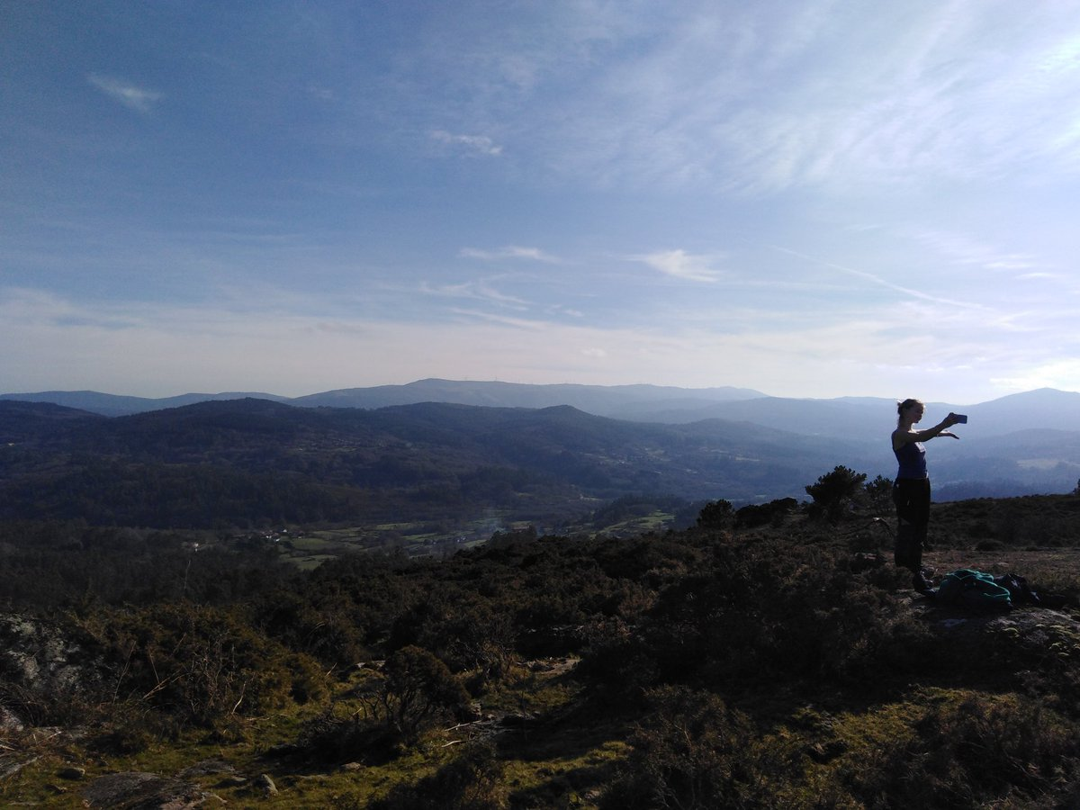 Went with daughter for a lovely walk in the Mountains Where The Wild Horses Roam (about 40 mins drive from us) on this glorious Bank Holiday Monday. Didnt see any horses this time, apart from a picked apart by wolves carcass (one of the locals we encountered pointed out to us)