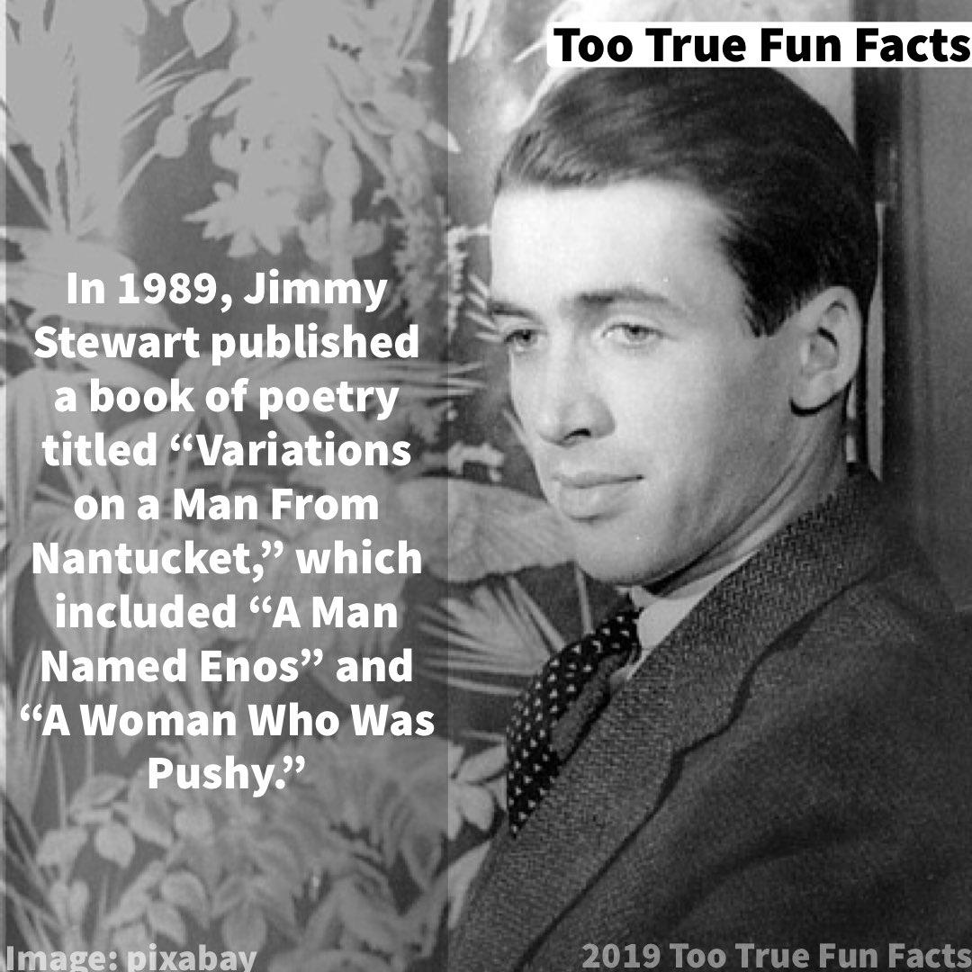 Too True Fun Facts On Twitter Celebrity Fun Fact Jimmystewart