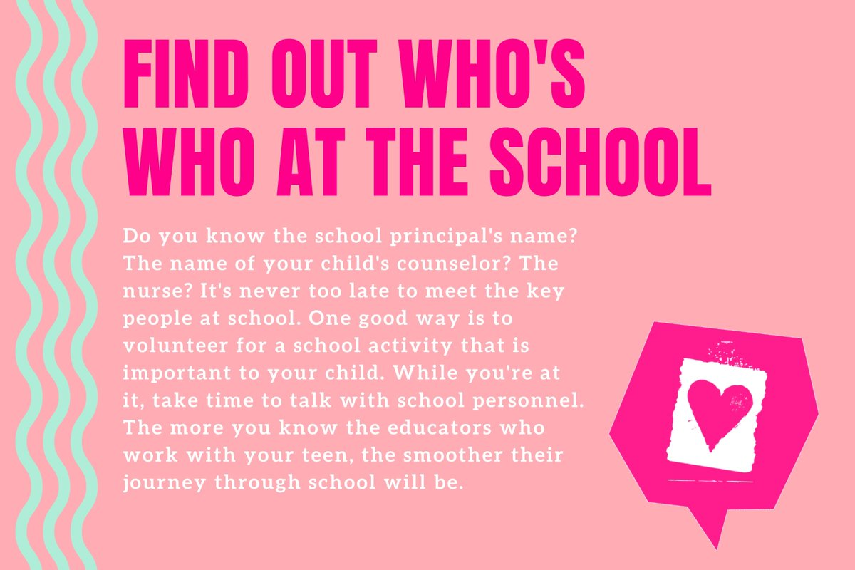 Parent Connection Tip of the Day: Find out who's who at the school. bit.ly/35yYlrb