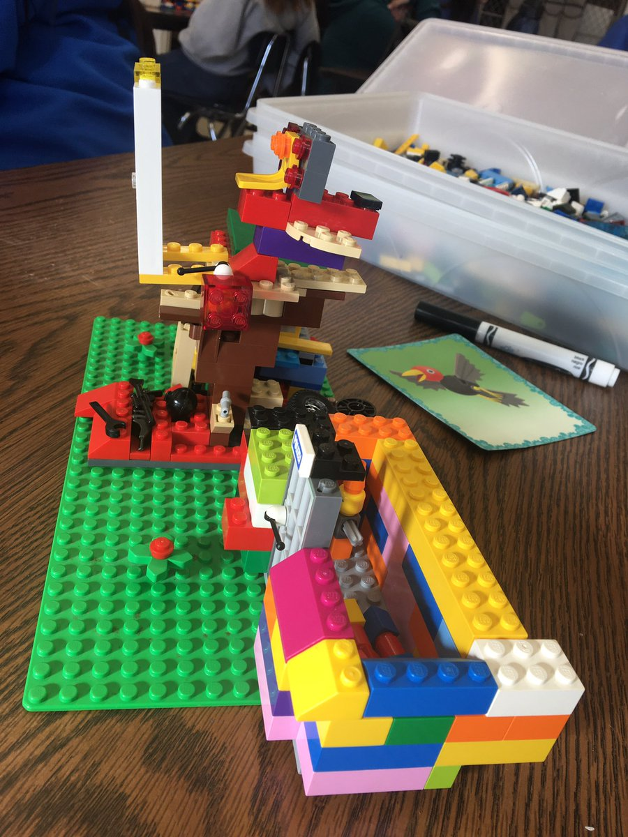 It's been a great 1st day of the semester building LEGO stories @HCSD_ILC