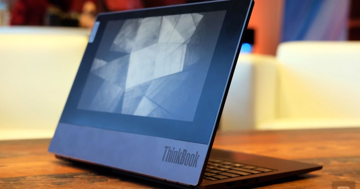 Lenovo's ThinkBook Plus is a laptop that doubles as a Kindle