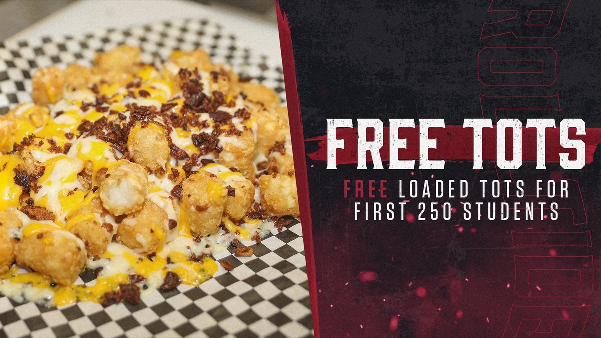 Free loaded tots to the first 250 students! Students get free admission with your ACTcard.