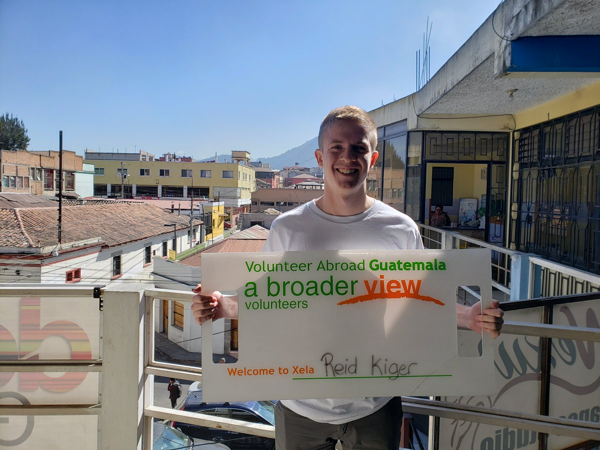 """Volunteer Reid Kiger in Guatemala at the Physical therapy Program. """"Doing this in a way that I can help a community in need lined up perfectly with the program that I wanted"""".https://www.abroaderview.org/volunteers/guatemala…#guatemala #volunteerabroad #volunteering #gapyear #missiontrips #abroaderview"""