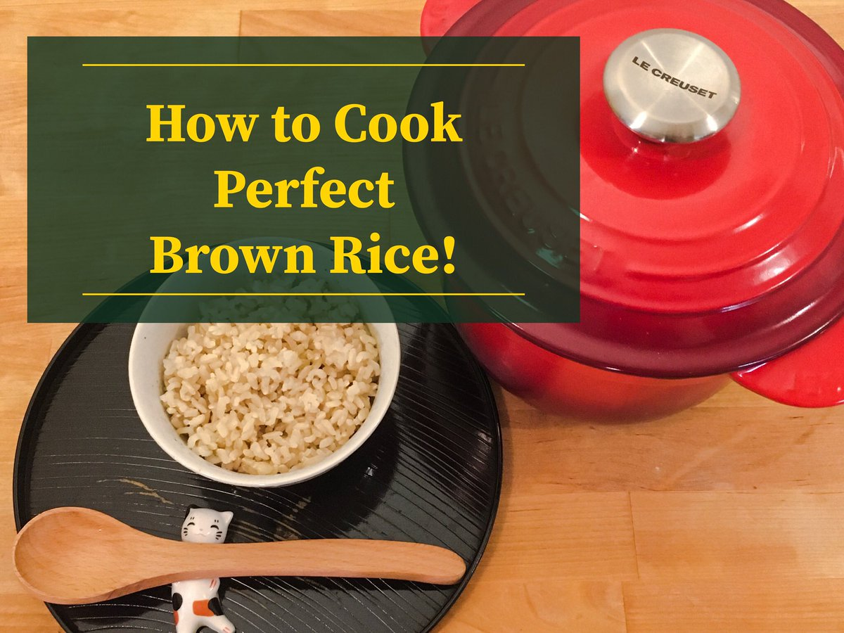 I made a quick video how to cook perfect brown rice! Please check it out   How to Cook Perfect Brown Rice in the Le Creuset Rice Pot https://youtu.be/R_IbIScGeXg  #LeCreuset #Castiron #BrownRice #HealthyEatingpic.twitter.com/pVPLNWpnIA