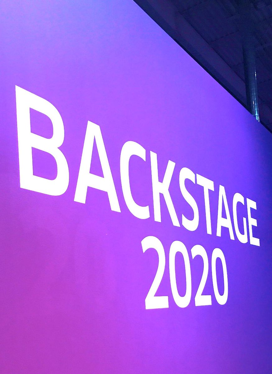 Backstage 2020 is here! The speakers were inspiring. How could they not be, look who presented! Looking forward to day 2..@weareunited @bcstoller_ual @JMRoitman @Meeshrene