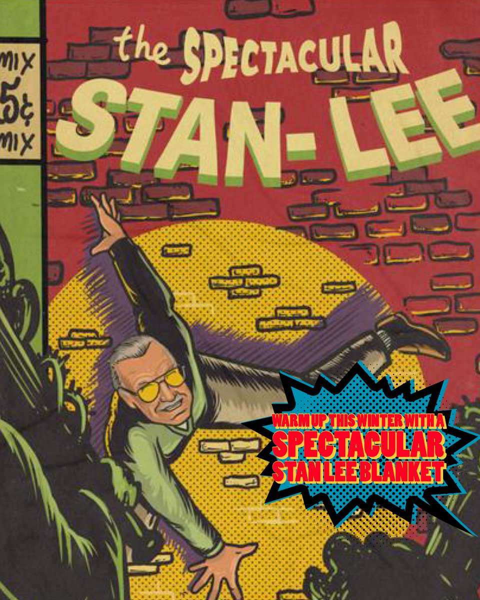 Warm up this winter with a Stan Lee Spectacular blanket from the Real Stan Lee Store #StanLee