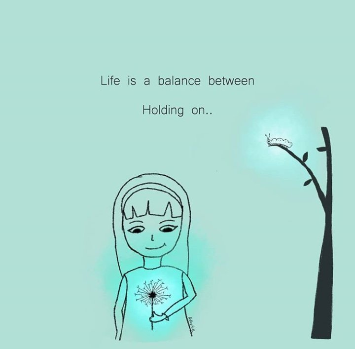 """""""Life is a balance between holding on and letting go."""" ~Rumi #aesthetic #art #artist #artwork #illustrator #ipad #ipadsketch #meditation #rumi #illustration #cuteillustrations #quotes #quotestoliveby #quotestoinspire #quotesaboutlife #meme #relatablequotes #procreate #sketch <br>http://pic.twitter.com/Jvn34ErcOd"""
