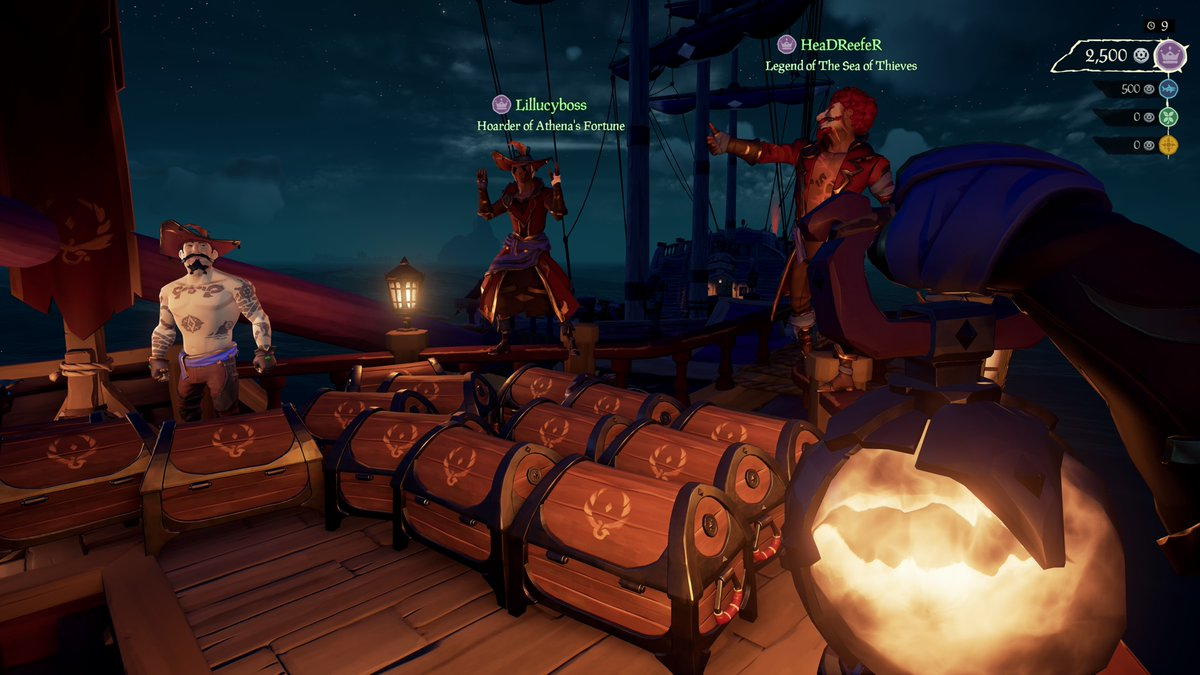 Dominated this Arena lobby with my grand daughter @lillucyboss and HeadReefer!  #SeaOfThieves #GettingStacked #Arena #SoTShot #BeMorePirate #XboxShare