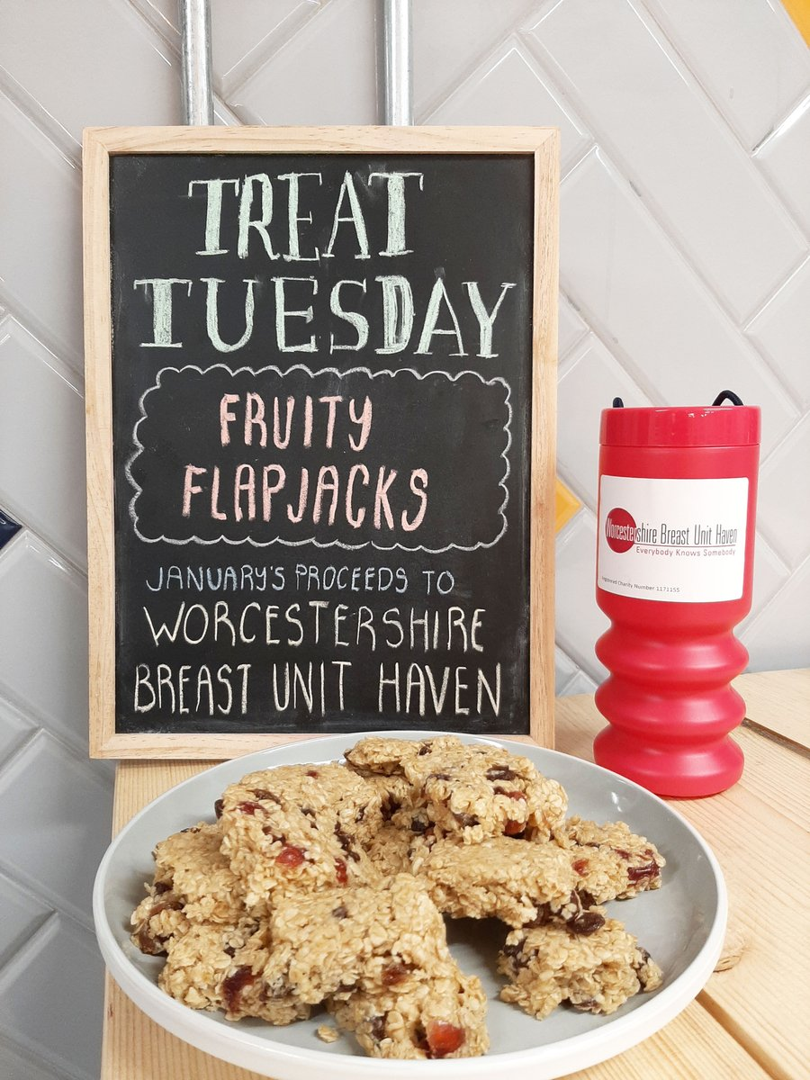 It's the first #TreatTuesday of 2020, which means a new charity!  This month we're collecting for @wbuhaven!  To kick it off we have Fruity Flapjacks. Forget all the sugar & the butter...they contain fruit, so are definitely healthy for you January dieters#WorcestershireHourpic.twitter.com/9Yi8CrzpS8