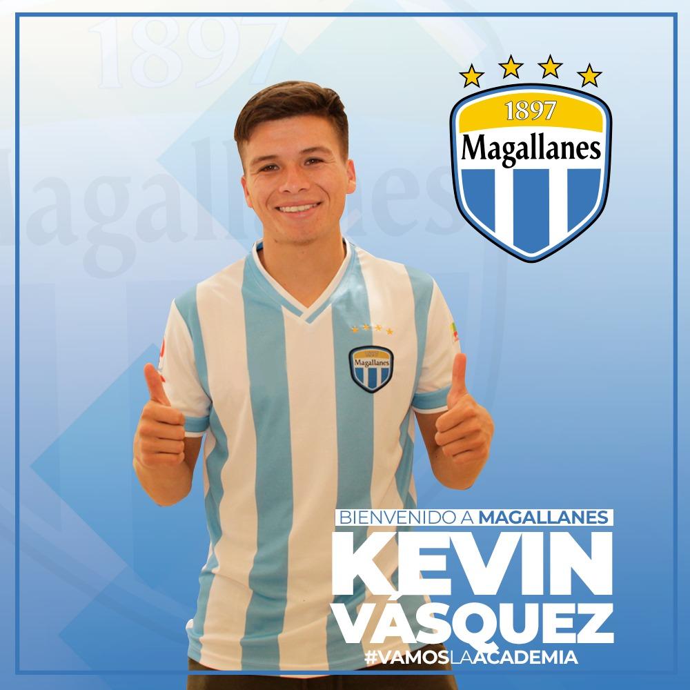 [REFUERZOS 2020]  ¡Bienvenido a La Academia, Kevin Vásquez!  El volante-defensa, de 22 años, llega a Magallanes proveniente de Unión La Calera, club con el que consiguió el ascenso a Primera División en 2017.  Formado en Santiago Wanderers, ha sido seleccionado chileno sub 20. 🇨🇱 https://t.co/Yd5xIhv52u