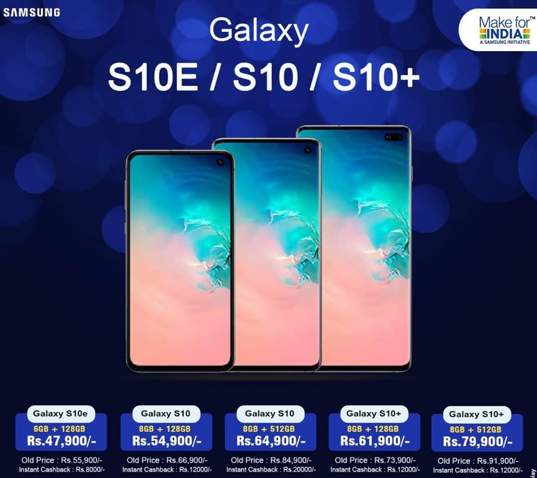 """Samsung Special Offer!! Buy your favorite  """" Galaxy S10 / S10+ / S10e  with  Awesome Price  Hurry Limited Period Offer..... #SamsungS10Family #Samsung #Cashback #Galaxys10series VISIT SHRIYASH MOBILE LATUR 9890902159 pic.twitter.com/IIjGU8TnoN"""