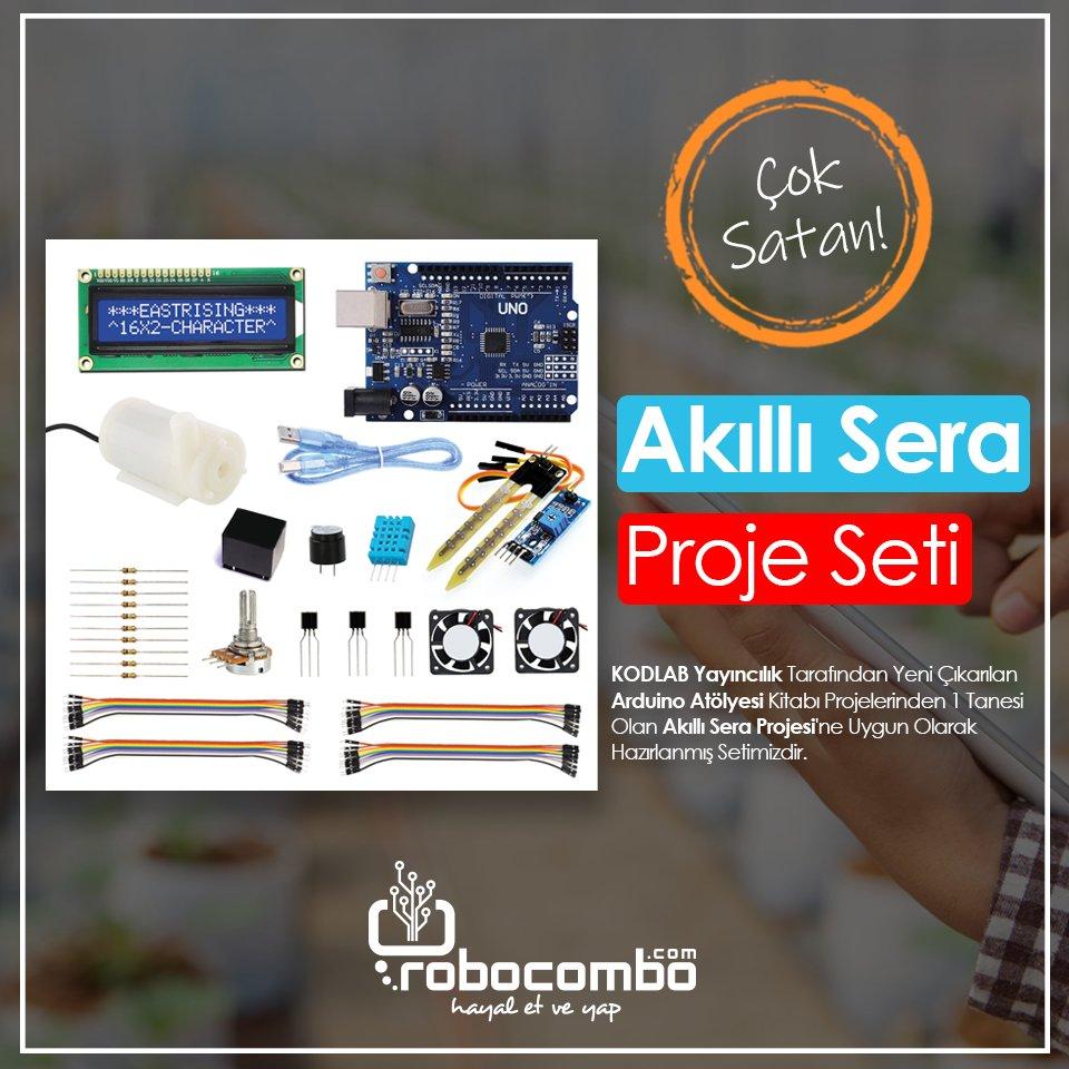 "Çok Satan ""Arduino Akıllı Sera Proje Seti"" Sadece http://Robocombo.com'da!  Link: http://www.robocombo.com/akilli-sera-proje-seti…  #mekatronik #maker #mekatronikmuhendisligi #arduino #robocombocom #hayaletveyap #robocombo #stem #arduinoset #3dprinter #3dyazici #robot #robotics #robotik #raspberrypipic.twitter.com/NM5p7kbdk8"