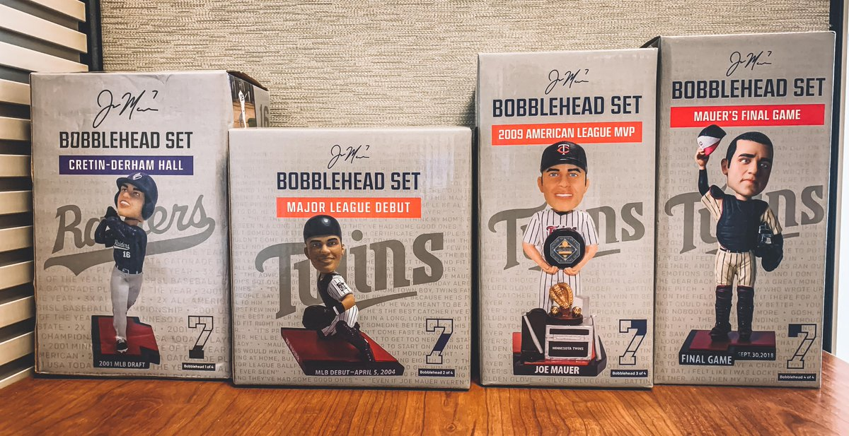 Happy #NationalBobbleheadDay!  RT for a chance to win a set of Joe Mauer bobbleheads.  #MNTwins