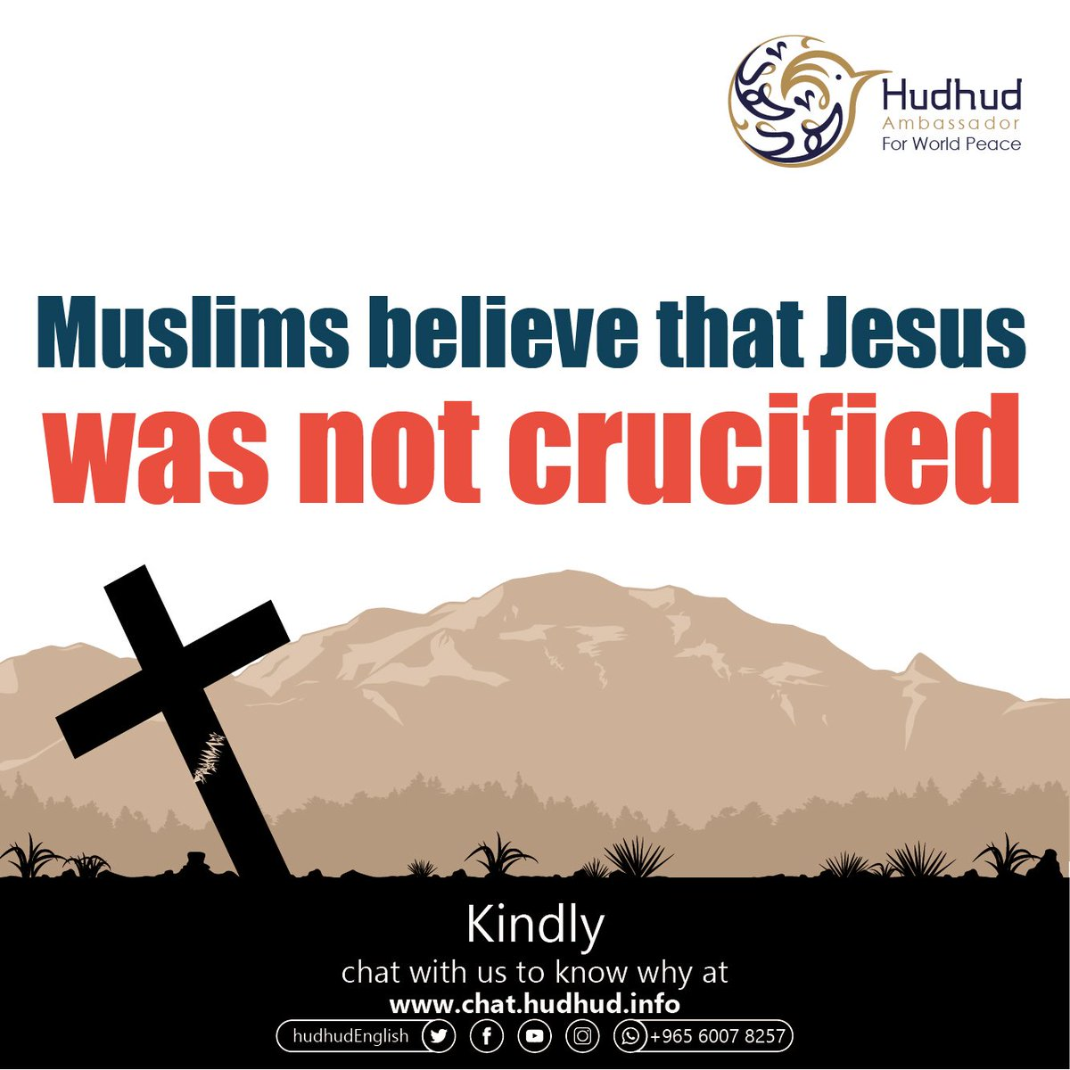 #Muslims believe that #Jesus was not #crucified.  Kindly, chat with us to know why at:  https:// chat.hudhud.info      #ShareYourAnswer #X1_new_beginning #Hudhudchat <br>http://pic.twitter.com/YpCoEWyKSh
