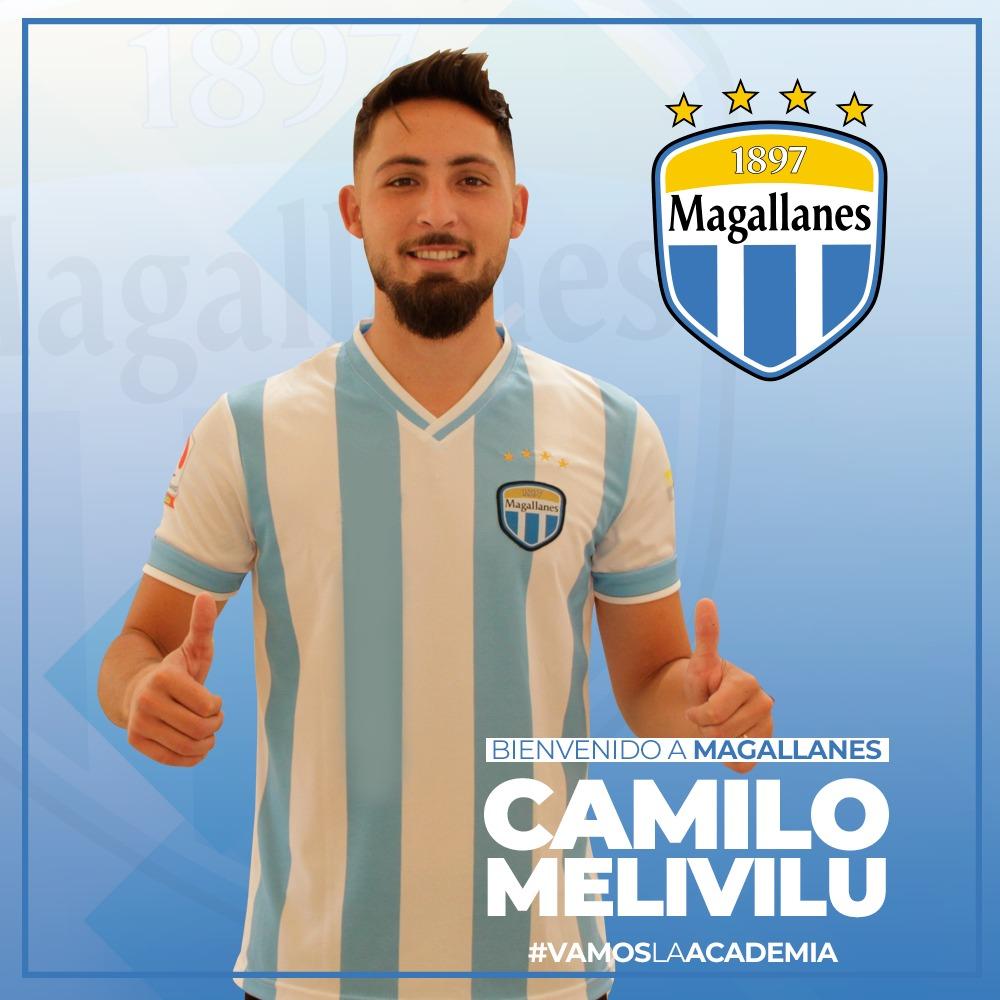 ¡Bienvenido a Magallanes, Camilo Melivilu!  Proveniente de San Marcos de Arica, el delantero de 26 años, será el encargado de sumar los goles para La Academia.  En 2019, Camilo se coronó campeón de la 2ª División, siendo el máximo artillero.  ¡Ya queremos celebrar tus ⚽️! 👏 https://t.co/NHOh5YDFXm