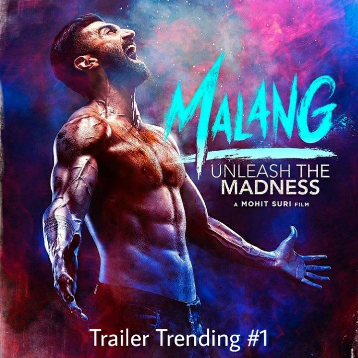 #MalangTrailer YouTube Views are 21M within 1 Day + Trending Number 1 Are you excited to watch this Movie? #malang #film #trailer #hindi #story #movie #trending #anilkapoor #adityaroykapur #dishapatani #kunalkhemu #luvranjan #mohitsuri #upcomingmovies #hit #bhushankumarpic.twitter.com/SrrLmGDfAZ