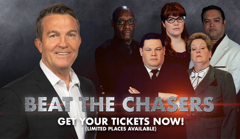 🚨 Tuesday Alert 🚨 Grab your priority tickets to see Bradley Walsh and ALL the Chasers in our new show #BeatTheChasers! bit.ly/BeatTheChasers… Use code: BRADWAL in the comments section when applying.