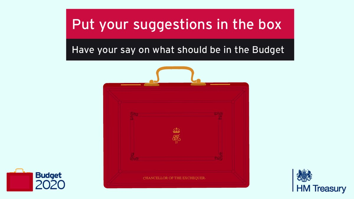 Want to have your say on what goes into #Budget2020? Share your views here: gov.uk/government/pub…