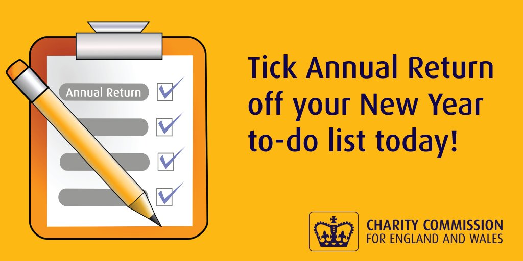 If your charitys annual return is due at the end of January use your #WednesdayMotivation to make a start now! Our guidance shows you what you need to do: gov.uk/guidance/prepa… #Trustees