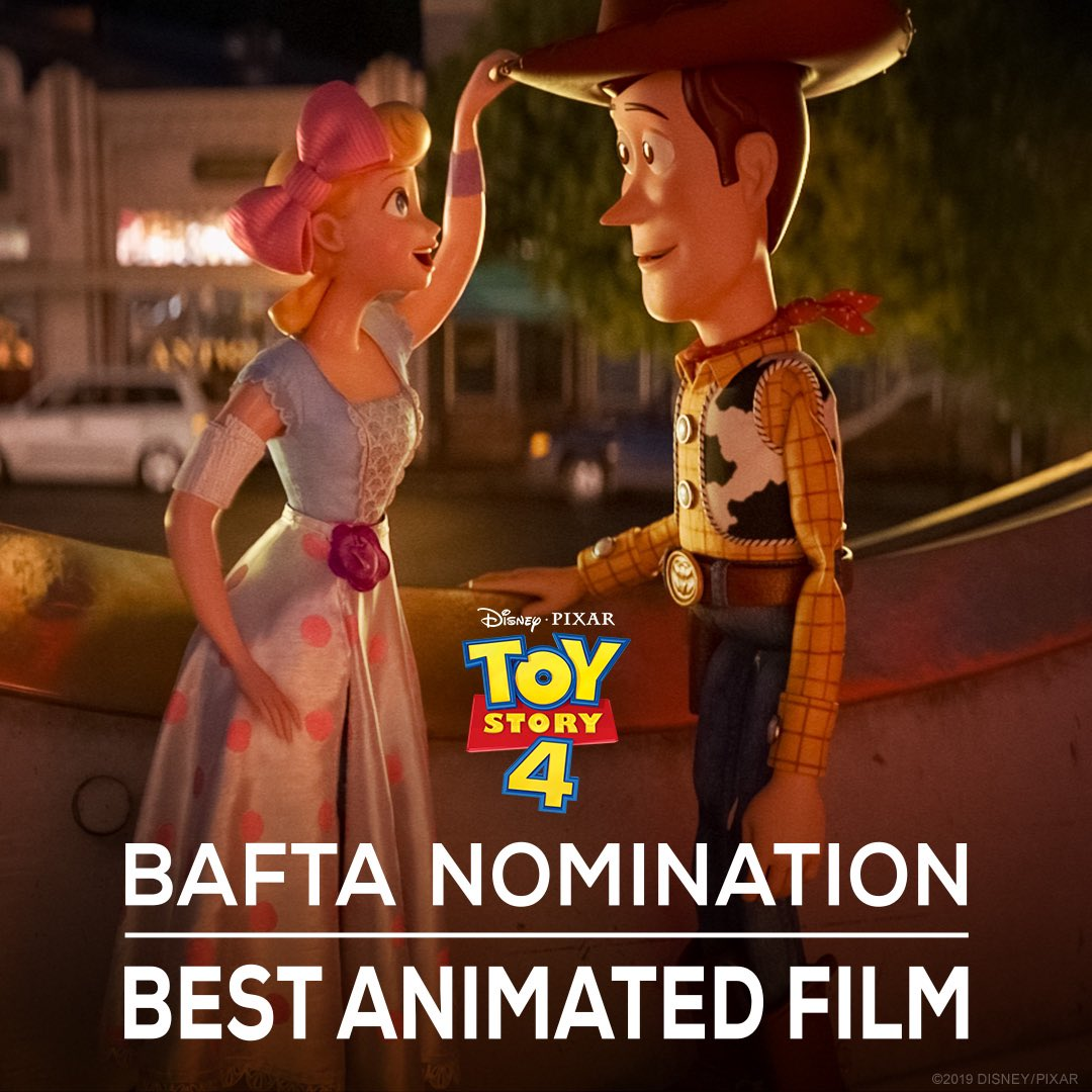 Toy Story 4 has been nominated for Best Animated Film at the BAFTA Awards. #EEBAFTAs https://t.co/VrnU00h3qr