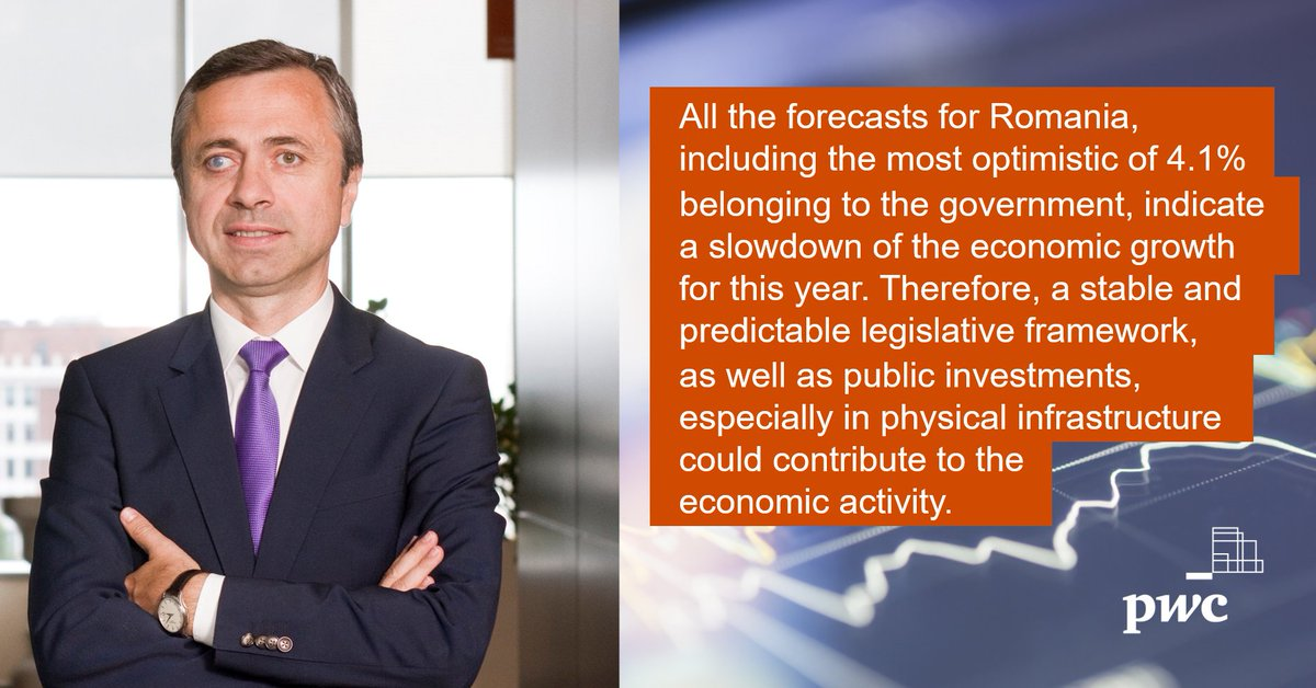 Global economic growth in 2020 is expected to grow at a modest rate of around 3.4%.  Find more info here: https://t.co/2Ld5YRY3Tn  #PwC #Romania #GlobalEconomy https://t.co/ioDbG0ABJ3