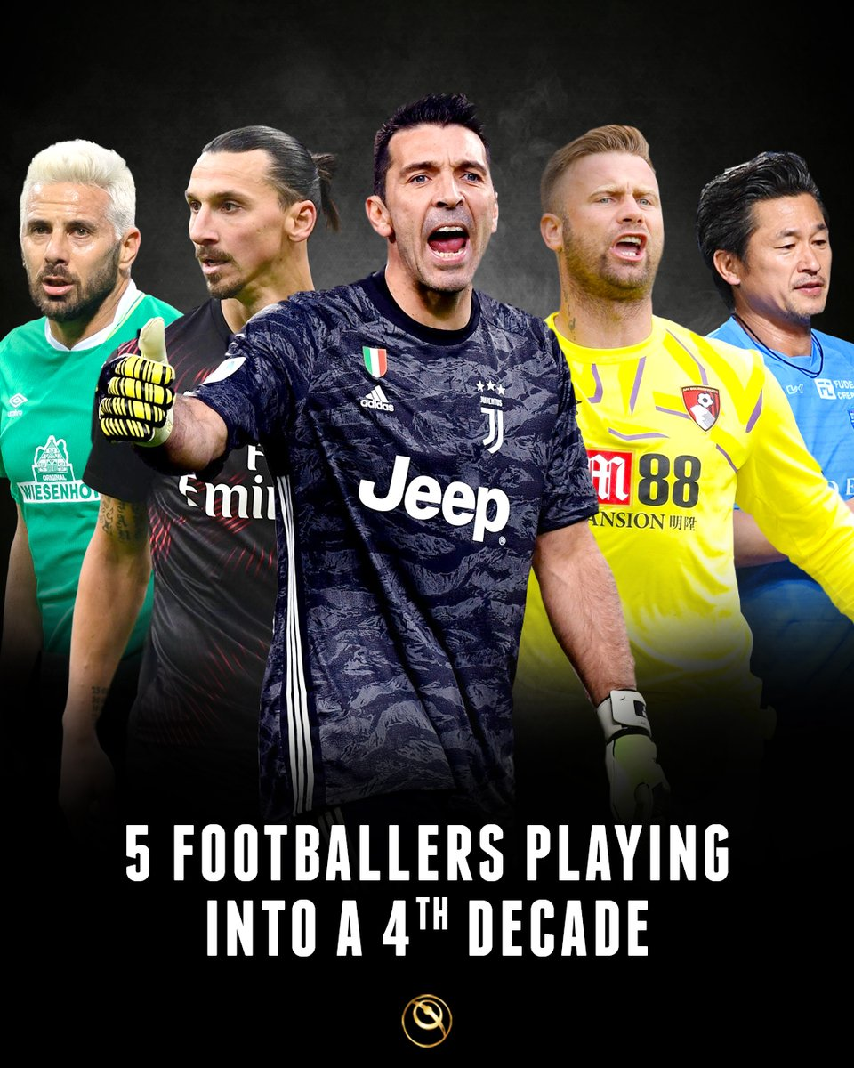 Globe Soccer Awards On Twitter 5 Footballers Who Have Played In The Past Four Decades Who Says Football Is A Young Man S Game Claudio Pizarro Sv Werder Bremen Zlatan