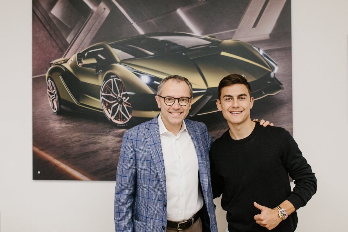 We are always happy to welcome the truly talented to Sant'Agata Bolognese. @Juventusfc forward @PauDybala_JR visited our headquarters and met our Chairman and CEO Stefano Domenicali.   Discover more: https://www.lamborghini.com/en-en/news/juventus-star-paulo-dybala-visits-lamborghini…  #Lamborghini