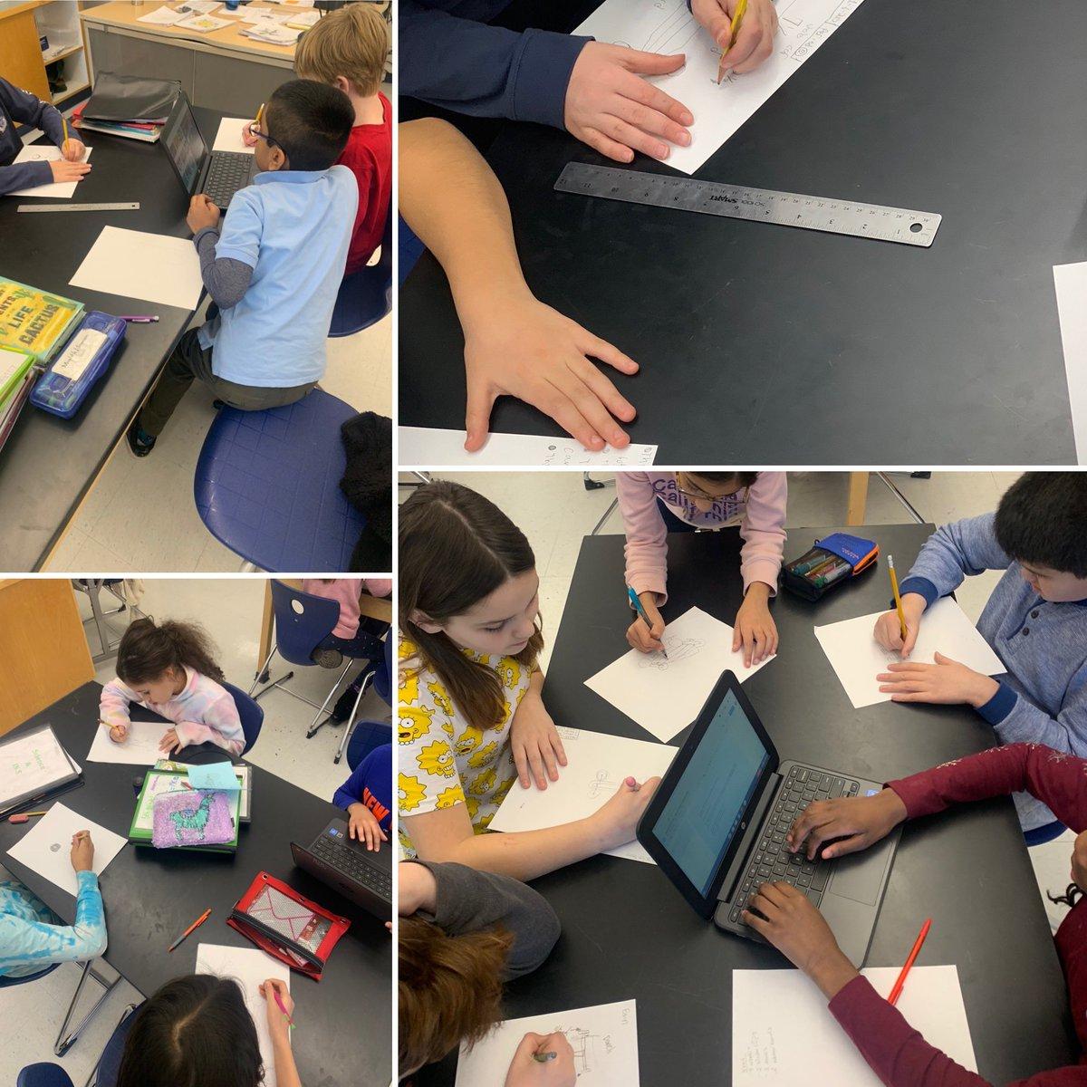 Grade 5 students creating design sketches for their race car challenge!  #racecarchallenge #criterionb #mypdesign #designsketches #developingideas #collaborationpic.twitter.com/knmR6ucxKz – at Rogers International School