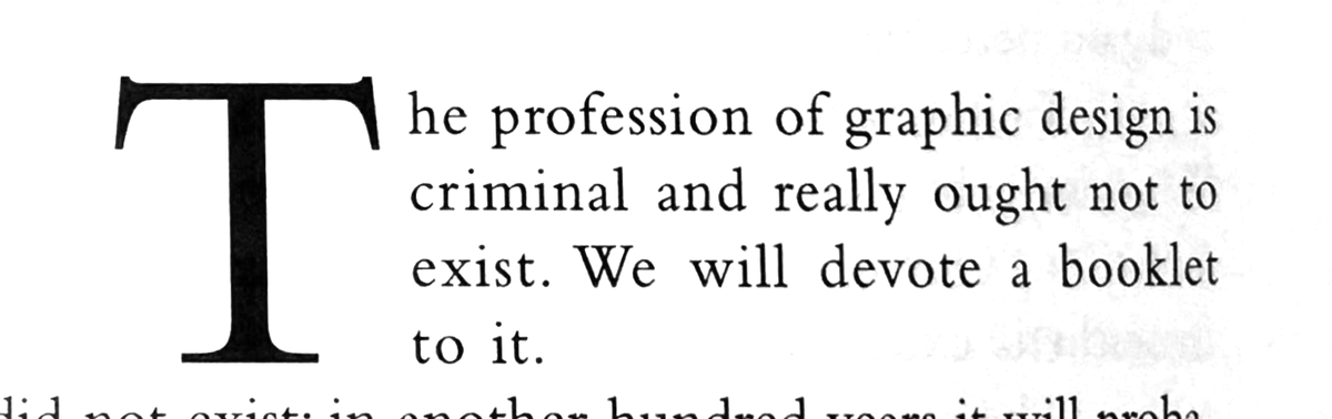 if you think design twitter or whatever is wild you should read Piet Schreuders 1977 essay Lay In – Lay Out