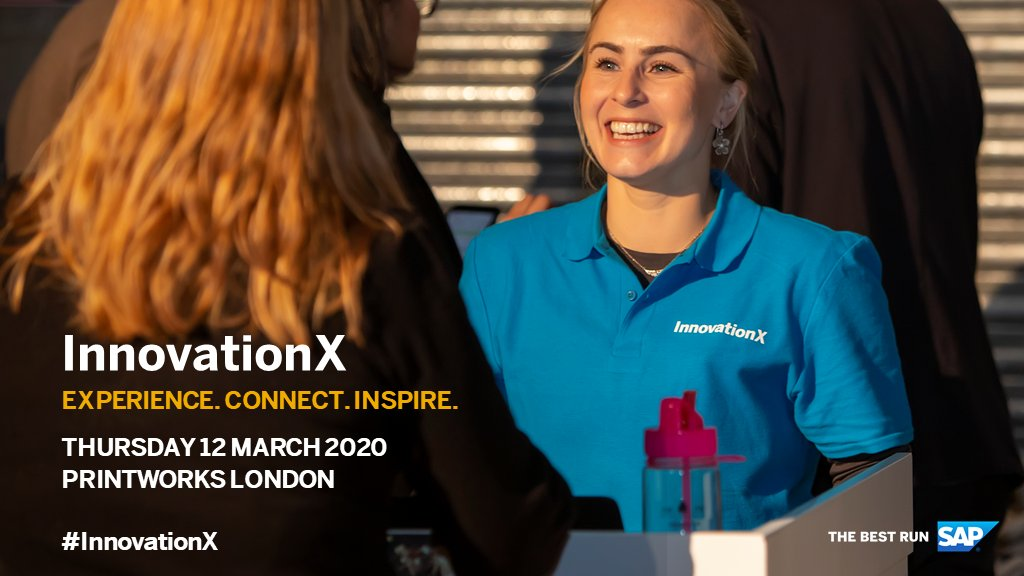 Experience is the new battleground for business. Deliver and thrive; fail and be ignored. Discover how your organisation can be triumphant at #InnovationX, register today: http://sap.to/60161wlNC #XM