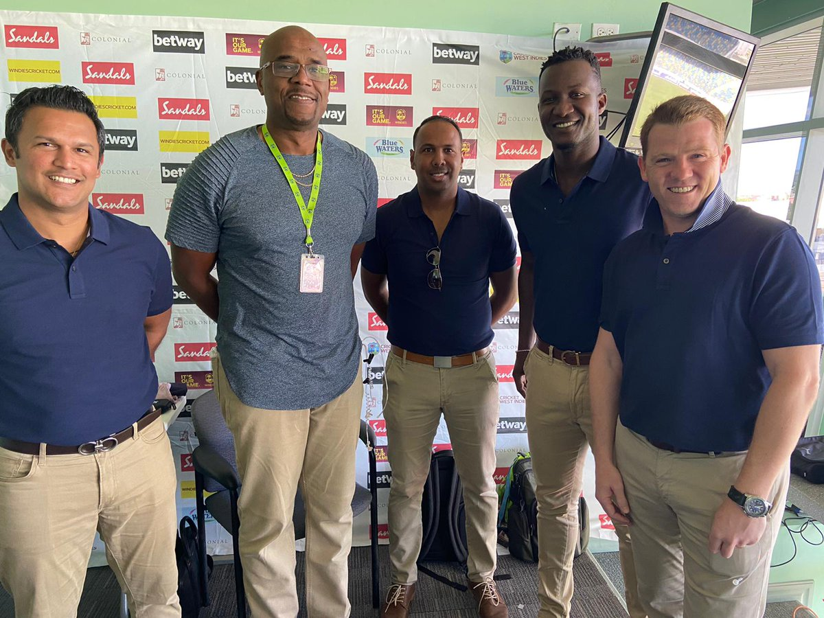 Happy to have this Commentary team for our #WIvIRE Home Series! Remember WI are broadcasting LIVE around the world plus via radio in the Caribbean. Visit http://www.windiescricket.com for details on where to watch!